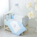 Детский постельный комплект в кроватку De Lux голубой
