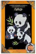 Декорированная картина-мозаика из пайеток ПАНДЫ