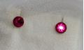Серьги-гвоздики с розовыми камнями