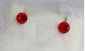 Сережки-гвоздики красные