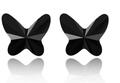 """Серьги """"Бабочки"""", черные"""