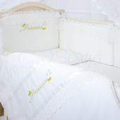 Детский комплект в кроватку ПРИНЦЕССА из сатина 1