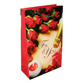 Пакет №5 Красные розы 23*37*10