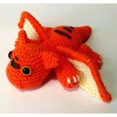 Вязаная игрушка Дракончик