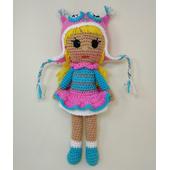 Вязаная кукла в шапке совы для девочки 3 лет
