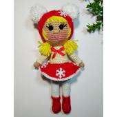 Вязаная кукла амигуруми МАШЕНЬКА