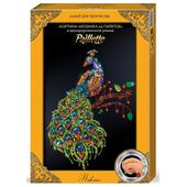 Декорированная мозаика картина из пайеток ПАВЛИН