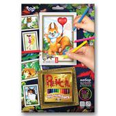 Картинки для раскраски набор с карандашами 12 цветов