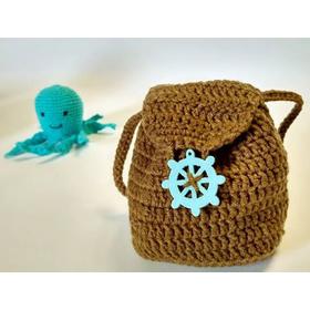 Вязаная мягкая игрушка в комплекте КАПИТАН-ПИЛОТ недорого