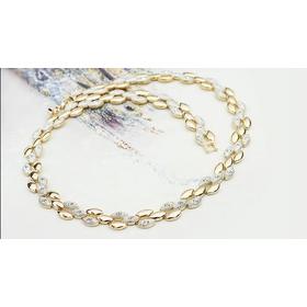 Ожерелье ЩЕДРОСТЬ с кристаллами Сваровски, покрытие - золото 18К