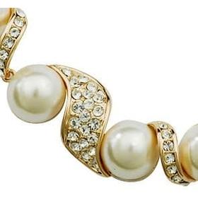 Ожерелье ЖЕМЧУЖНОЕ с кристаллами Сваровски