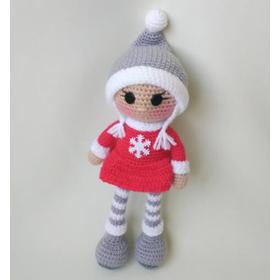 Кукла амигуруми СНЕЖИНКА купить для детей 3 лет и старше