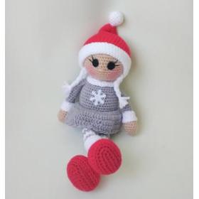 Кукла амигуруми СНЕЖИНКА купить для девочки