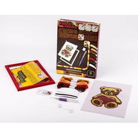 Ковровая вышивка набор МИШКА для детей недорого