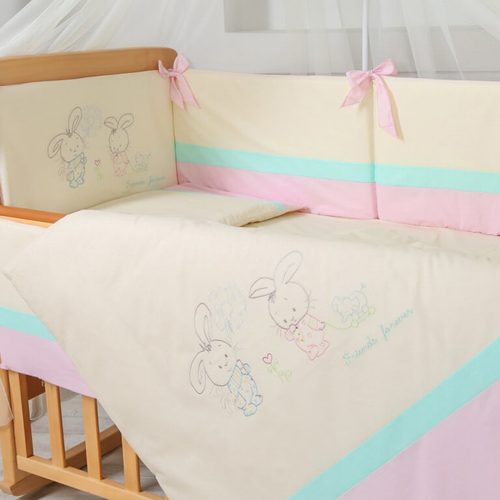 Постельный комплект Funny Bunny розовый 2