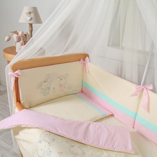Постельный комплект Funny Bunny розовый 5