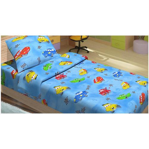 Детский постельный комплект CARS 95 ГОЛУБОЙ