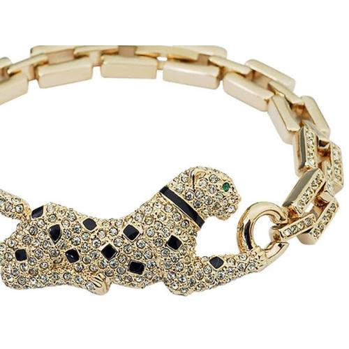 Браслет Леопард позолота с кристаллами Сваровски