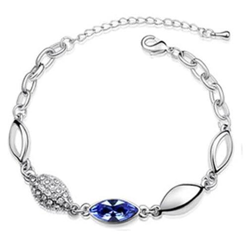 Женский браслет-цепочка на руку ПОЛЯРИС с синими камнями
