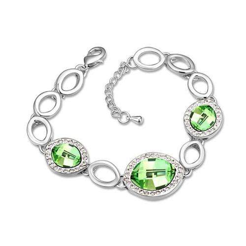 Браслет с зелеными камнями GREEN
