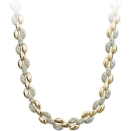 Ожерелье ЩЕДРОСТЬ с камнями Сваровски, покрытие - золото 18К