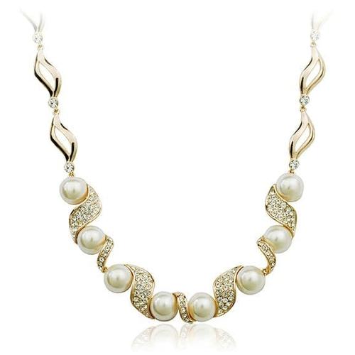 Ожерелье ЖЕМЧУЖНОЕ с камнями Сваровски