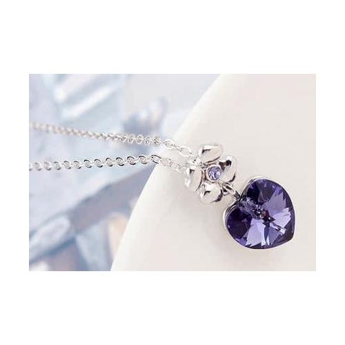 """Кулон """"Цветочное сердце"""", фиолет"""