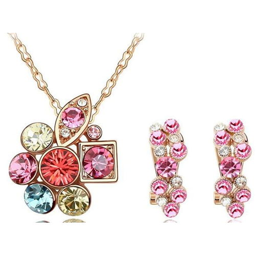 """Комплект """"Кристаллы"""", розовый"""