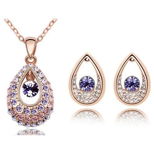 ДАМИАНИ набор бижутерии с камнями Сваровски фиолет