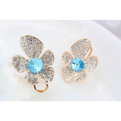 "Серьги ""Голубой цветок"""