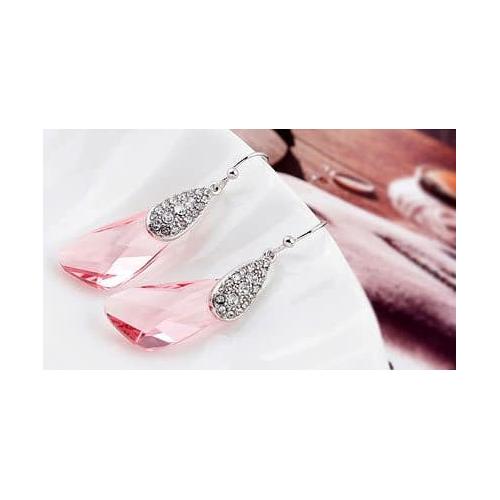 """Серьги """"Капель"""", розовый"""