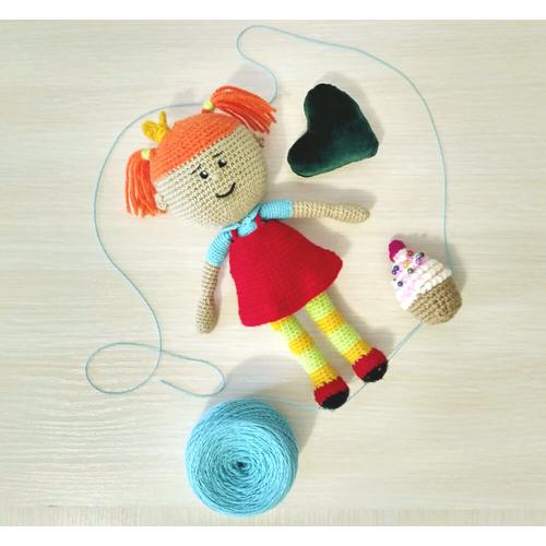 Вязаная кукла ЦАРЕВНА купить Киев