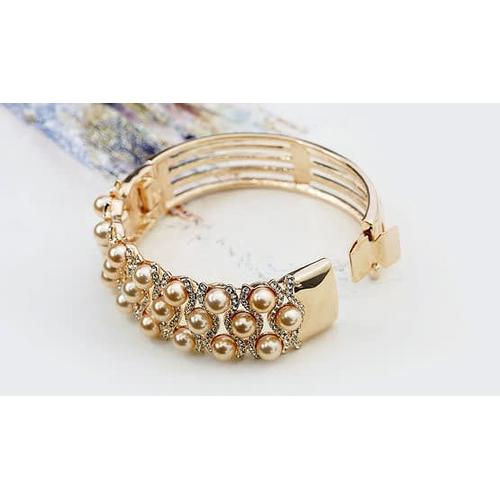 Широкий браслет (золото 750 пробы) СОКРОВИЩЕ
