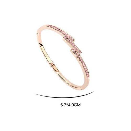 Браслет ТРИАДА розовый с камнями Сваровски купить в Киеве