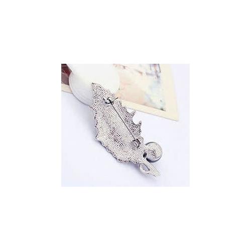 Брошь с жемчугом ЯГОДКА с кристаллами