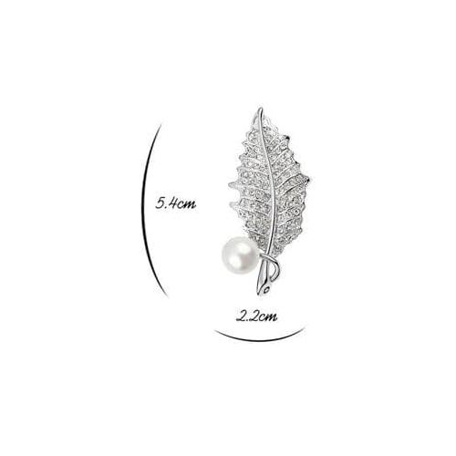 Брошь с жемчугом ЯГОДКА с кристаллами Сваровски размеры