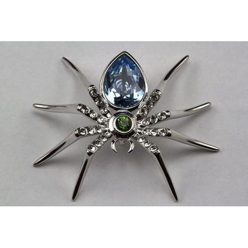 Брошь ПАУК с кристаллами Сваровски