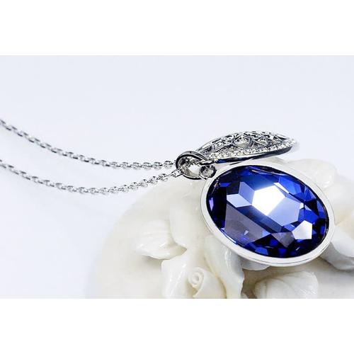 "Кулон ""Мурано"" с кристаллами Сваровски,  синий"