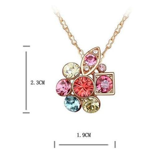 Комплект КРИСТАЛЛЫ с камнями Сваровски, розовый набор