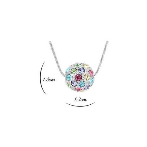 ПАНДОРА комплект бижутерии серьги + кулон с кристаллами Сваровски,  разноцветный