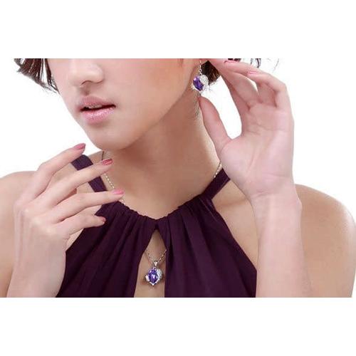 Сердце Swarovski Комплект бижутерии с камнями Сваровски,  фиолет