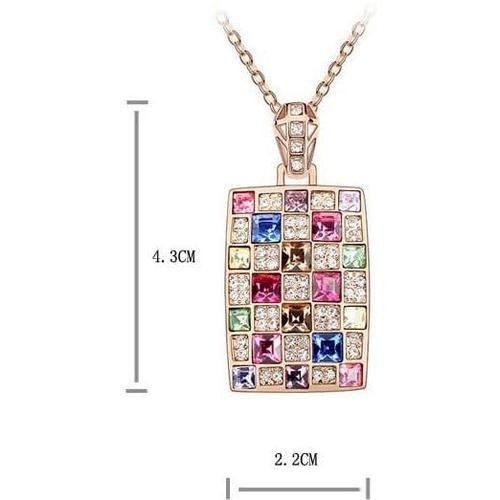 Набор бижутерии ШАХМАТНАЯ КОРОЛЕВА кристаллом Сваровски,  разноцветный