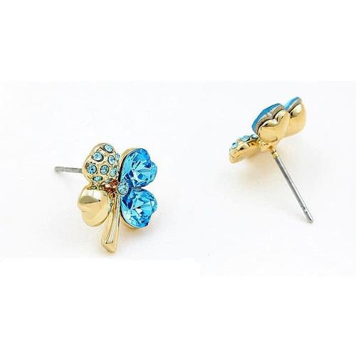 Комплект ЗАГАДКА с камнями Сваровски,  голубой набор бижутерии