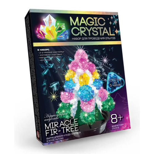 Набор выращиваем ЧУДО-ЕЛОЧКУ из кристаллов