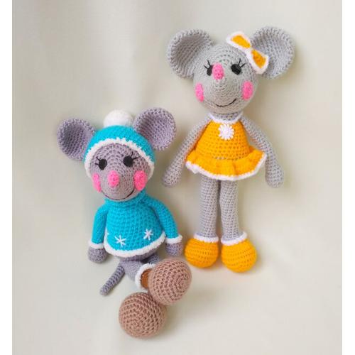 Набор Веселые Мышки амигуруми