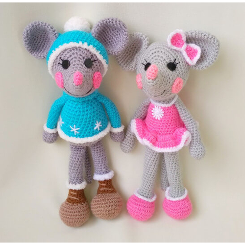 Вязаные игрушки Веселые Мышки набор для подарка