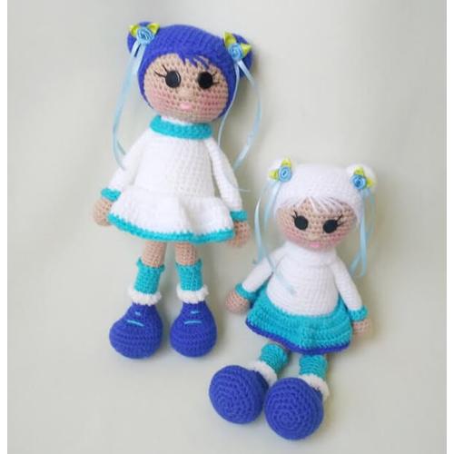 Вязаная кукла ручной работы СЕВЕРНАЯ ДЕВОЧКА купить Киев
