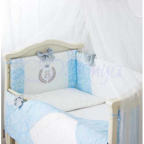 Детский постельный комплект De Lux голубой