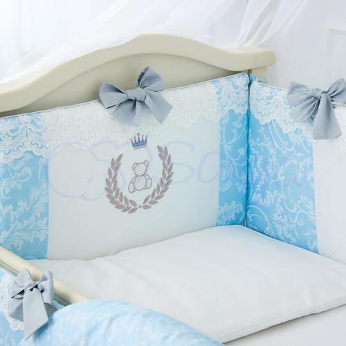 Детский комплект в кроватку De Lux голубой