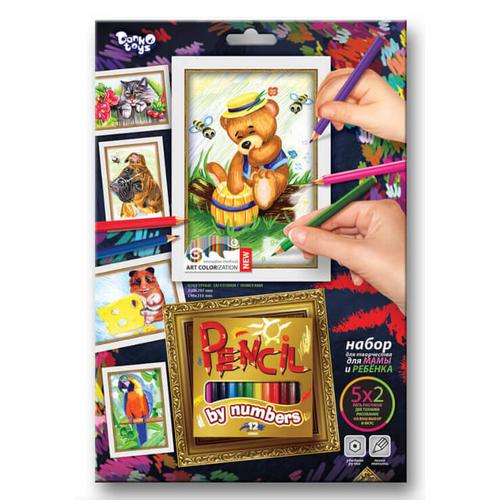 Детские раскраски карандашами набор